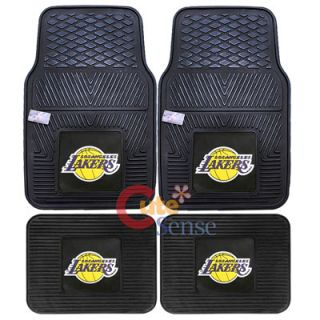 Angeles Lakers Car Floor Mat 4pc Utility Fanmats NFL Auto Accessories