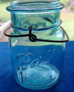 Ball Ideal Canning Jar w Wire Bale No Glass Lid Rubber Ring