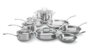 New Calphalon 13 Piece Tri Ply Stainless Cookware Set Induction Model
