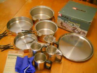 Ozark Trail Cook Set 12 Piece Stainless Steel Copper Clad Pans Camping