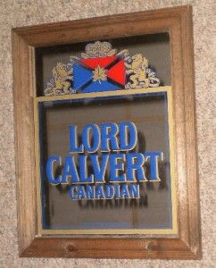 lord calvert canadian whisky mirror 17 x 13 nice