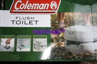 New Coleman Portable Flush Toilet Camping Outdoor Thrown Porta Potty