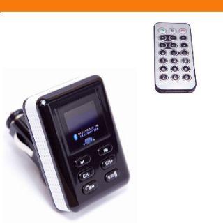Bluetooth Hands free Car Kit FM Radio Transmitter Speaker Handfree