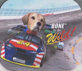 Yellow Lab Retriever Race Car Wild Mouse Pad Mousepad