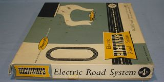 Electric Road System Slot Car Racing Track Set #1 Box Lid Left Panel