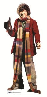 Tom Baker Doctor Who Lifesize Cardboard Cutout Standee Standup 4th