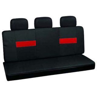 set red black low back rear bench auto car seat cover plus head rest