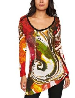 Desigual Garden Patterned Womens Top Clothing