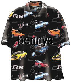 New Camaro Chevrolet Chevy Cars Camp Hawaiian Shirt XL