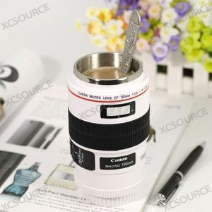 Canon Lens Mug Cup Macro 100mm Thermos Stainless Steel Insulated Pouch
