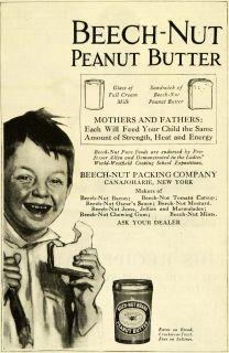 Peanut Butter Jar Boy Sandwich Condiment Canajoharie New York