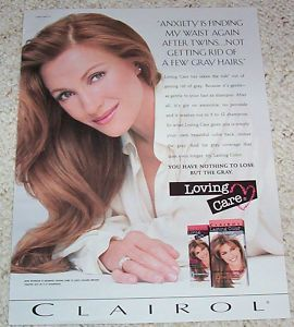 1997 Jane Seymour Clairol Loving Care Hair Color 1pg Ad
