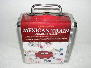 New Mexican Train Domino Game in An Aluminum Travel Case