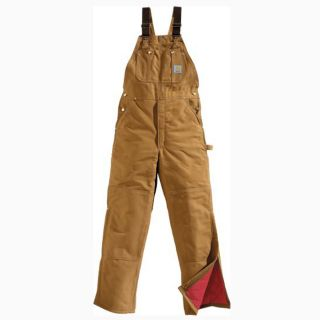 Carhartt Bib Overalls R02 Mens 48x32 Quilted Midweight Lined Duck