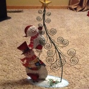 Homco Home Interiors Snowmen Christmas Card Holder