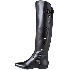 Carlos by Carlos Santana Womens Indigo Black Leather Boot