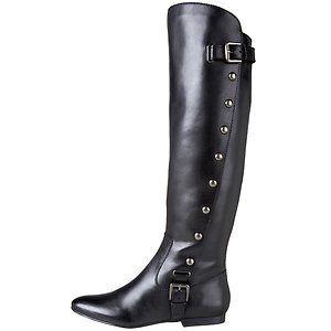 Carlos by Carlos Santana Womens Indigo Black Leather Boot