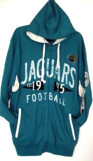 Jacksonville Jaguars XL NFL Retro Legends Full Zip Hoodie Fleece