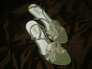 Carlos Santana Womens 6 M Wedge Heels Green Patlea Womens 6 Shoes New