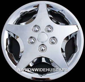 14 SETOF4 Hub Caps Chrome Full Wheel Covers Rim Cover Wheels Rims w
