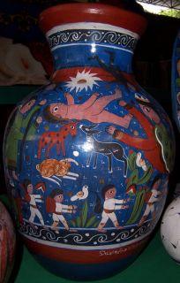 Salvador Vasquez Master Potter Mexican Folk Art Huge Ceramic Urn Pot