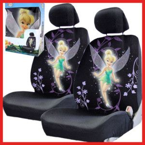 Tinkerbell Car Seat Cover Auto Accessories Low Back 2pc