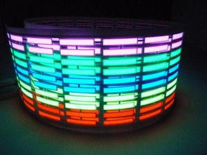 colors Car Stickers Equalizer Glow Sound music Activated 12V LED