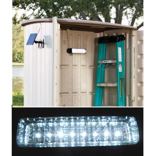 Solar Powered Wall Garage Shed Light 8 LED Storage Basement Attic