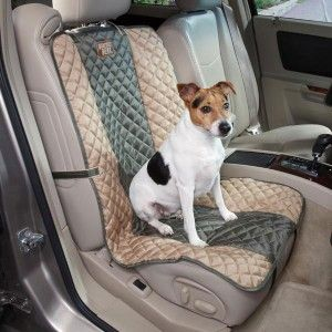 Gear Fairfield Single Dog Car Seat Cover Moss Green Tan