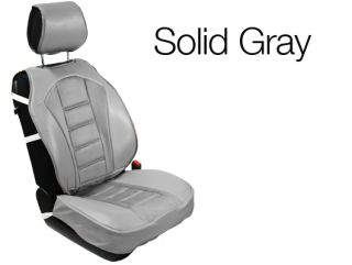 Front 2 Piece Universal Car Seat Cushion Covers 208 Solid Gray