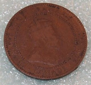 1910 Canada Canadian Penny 1 One Cent Large Cent Coin
