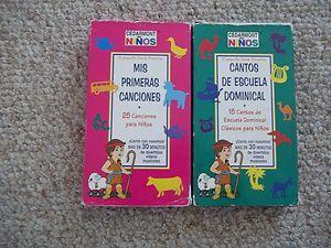 lot VHS Mis Primeras Canciones CEDARMONT NINOS Cantos de Escuela