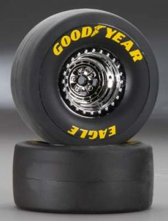 Traxxas 1/8 Scale Funny Car Tires and Wheels S1 Slick TRA6973