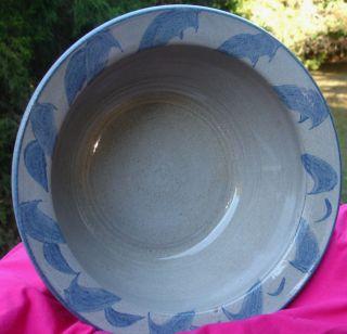 Vtg North Carolina Pottery Bowl VERNON OWENS Jugtown Ware Signed
