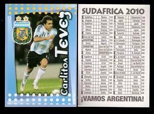 Carlos Tevez Apache Argentina Card FIFA World Cup 2010