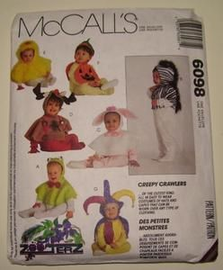 6098 Costumes Hood Cape Halloween Sewing Pattern Infant Toddler