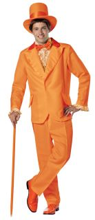 Jacket, pants, top hat with orange band, sleeveless shirt front with