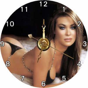 Brand New Model Actress Carmen Electra CD Clock