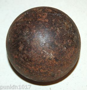 CIVIL WAR CANNON BALL COLLECTIBLE 3 INCH ARTILLERY IRON CANNON BALL