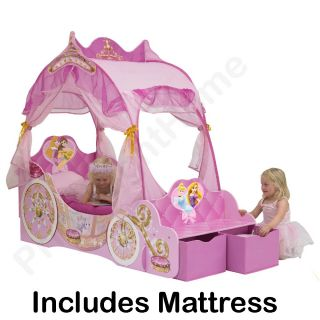 Disney Princess Carriage Toddler Bed   snuggle up to sleep with your