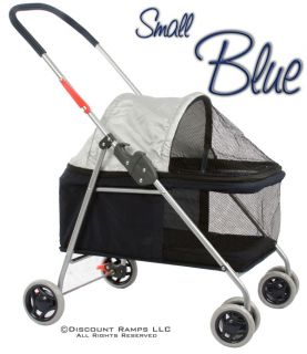 Blue Folding Dog Stroller Carrier Cat Strollers Dogs Pet Str 1S Blue