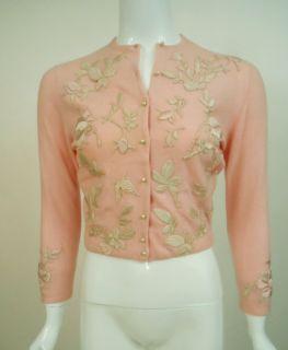 Vintage Helen Bond Carruthers Cardigan Pink Cashmere Sweater