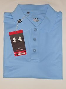 Armour s s Performance Polo Golf Shirt Pick Size Carolina Blue