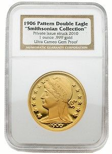 1906 Pattern Double Eagle Smithsonian Collection 1 oz Gold NGC Gem