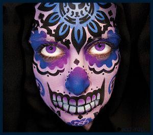 European Body Art Nixs Collection Sugar Skull #1 Face Stencil