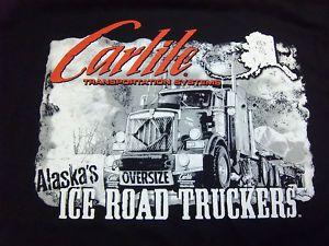 Alaska Ice Road Truckers Carlile Black T Shirt XXL New Ships Worldwide