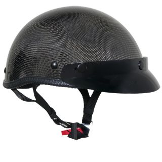 Profile Carbon Fiber Half Open Face Motorcycle Helmet XS XXL