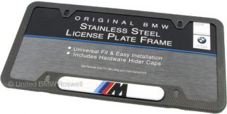 BMW Carbon Fiber Look License Plate Frame M3 M5 M6 X6M