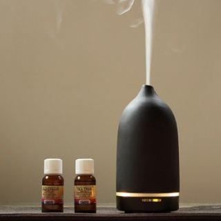 Toast Living Casa Aroma Genie Black Ultrasonic Aromatherapy Diffuser