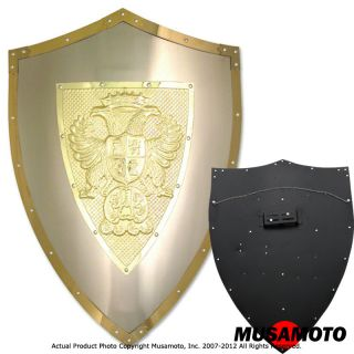 Crusader Medieval Knight Carlos V Cross Shield Double Eagles Armor